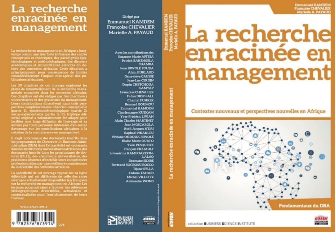Labellisation par la FNEGE en France, de l'ouvrage collectif sur la recherche enracinée en Afrique dans lequel l'IME a été fortement impliqué en Afrique